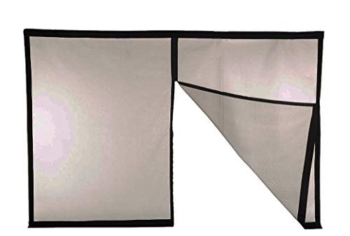 (Magnetic Garage Door Screen - Single (1 car) Sized Screens (Double Car Also Available) - 60g Fiberglass Mesh - Stronger 1,400gs High Energy Magnets - Weighted Bottom - Black )