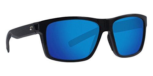 Costa Del Mar - Slack Tide - Shiny Black Frame-Blue Mirror 580 Poly Polarized Lenses -
