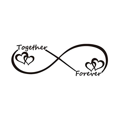 Art Words Wall - Together Forever DIY Wall Stickers, Creative Cartoon Art Words Pattern Wall Decor Removable Vinyl Wall Art Decor, Wall Decoration Home School Office Cafe (8