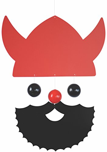 Flensted Mobiles Veteran Viking Red Hanging Mobile - 10 Inches Plastic by Flensted Mobiles