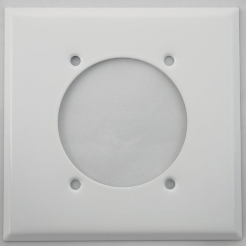 Dryer Wall Plate - Stamped Steel Smooth White 2 Gang Wall Plate for 1 Electric Range/Dryer Receptical