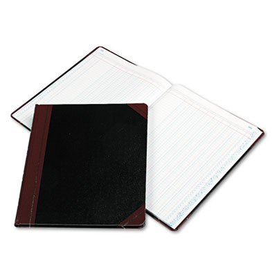 Columnar Book, 8 Column, Black Cover, 150 Pages, 12 1/4 x 10 1/8, Sold as 1 Each