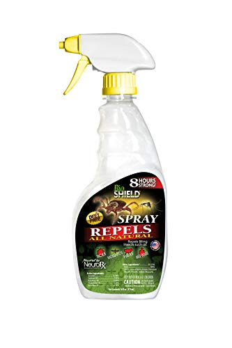 (BIO SHIELD by Portland Outdoors All Natural DEET-Free 8-Hour Tick, Flea, Bed Bugs and Mosquito Repellent, 16oz Pump Spray)