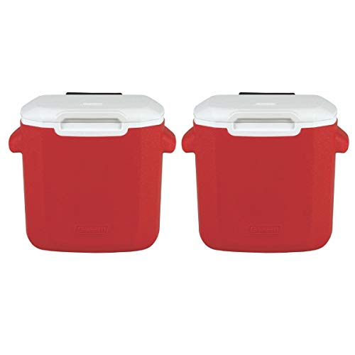 Coleman 16-Quart Personal Wheeled Cooler (Red/ 2 Pack) (Coleman 16 Qt Personal Wheeled Cooler Red)