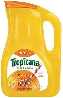 product image for TROPICANA ORANGE JUICE PURE PREMIUM NO PULP 89 OZ PACK OF 2