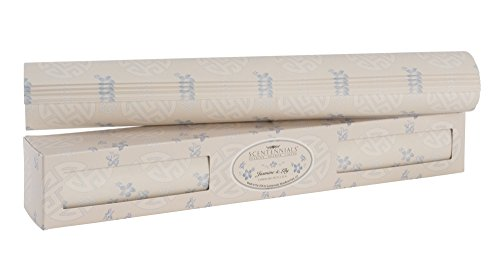 Scentennials JASMINE & LILY (6 SHEETS) Scented Fragrant Shelf & Drawer Liners 16.5'' x 22'' - Great for Dresser, Kitchen, Bathroom, Vanity & Linen Closet by Scentennials Scented Drawer Liners