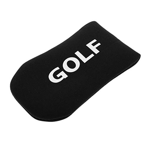 Prettyia Neoprene Golf Putter Headcover Club Head Cover Perfect for Blade Putters, Easy to Attach and Remove - Black, 12x6.5cm ()