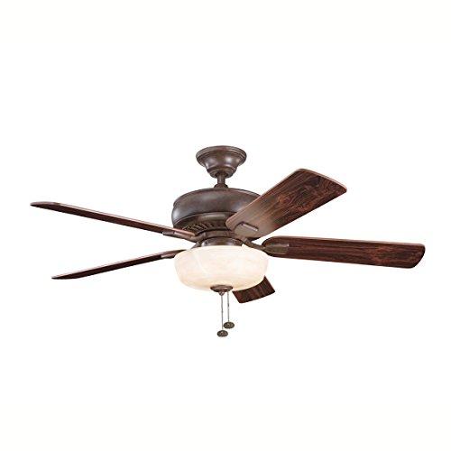 Kichler 339212TZ Saxon Select Ceiling Fan, Tannery Bronze