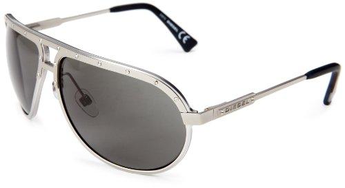 Diesel DL00536316N Aviator Sunglasses,Palladium,63 - Sunglasses Womens Diesel