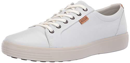 ECCO Men's Soft 7 Sneaker, White/with Gravel Outsole, 43 M EU (9-9.5 ()