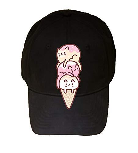 Randy Otter Cute Cat Ice Cream Cone - 100% Cotton Adjustable Hat