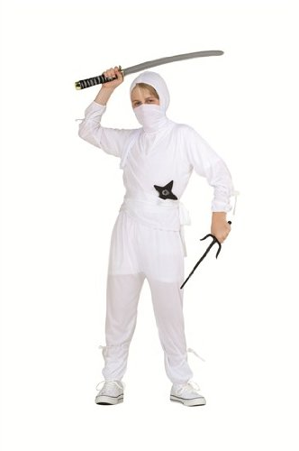 RG Costumes Ninja, White, Child Medium/Size 8-10