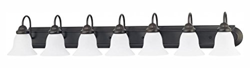 Ballerina - 7 Light 48In. Vanity W/ Frosted White Glass