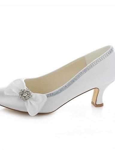 boda y 3 Fiesta Vestido Tacones Redonda 4in Mujer 3in 4in GGX de Zapatos Marfil 3 2 Boda ivory 2in Noche ivory Tacones 3 Punta zaxEvq