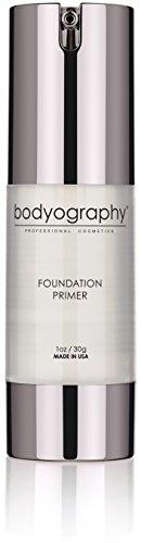 Bodyography Foundation Primer (Clear): Anti-Aging Salon Makeup Primer w/Vitamin E, A, Jojoba, Grapeseed Oil, 1 oz