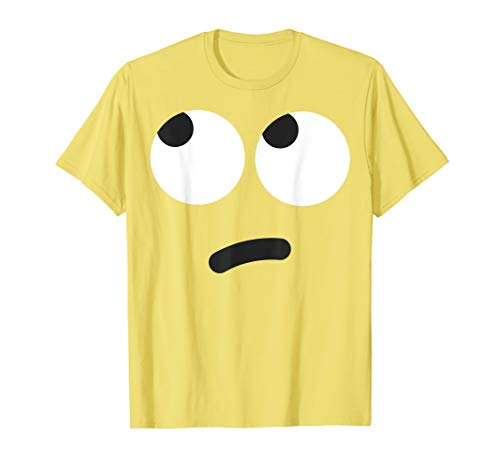 Rolling Eyes Face Emoji Easy Lazy Group Halloween Costume T-Shirt