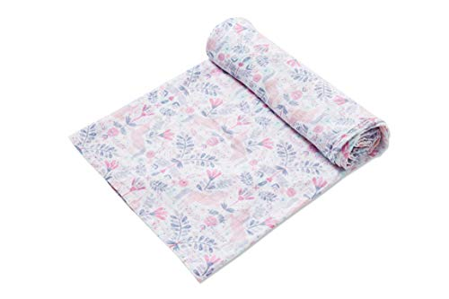 Angel Dear Luxurious Soft Swaddle Baby Blanket, Unicorn Damask, Large 47x47
