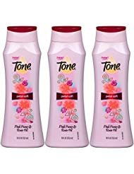 Tone Petal Soft Body Wash, Pink Peony and Rose Oil, 18 Oz (Pack of 3) ()