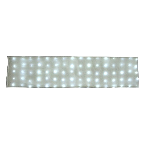 Deluxe Large 80 LED Lighted Snow Blanket 60'' X 15'' with 8 Dazzling Lighting Effects