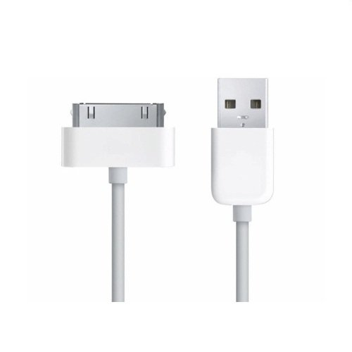 Bislinks New Sync Data/Charger USB Cable White for iPod iPhone 3G/3GS/4/4S iPad by BisLinks® (Image #2)