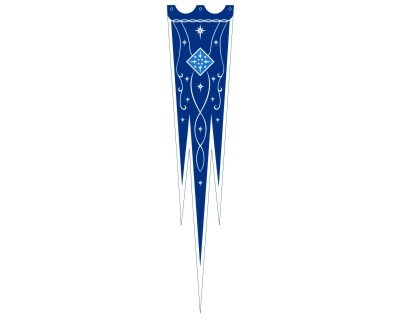 Lord of the Rings - Flag - Gilgalad - 17.7 X 82.7 Inch