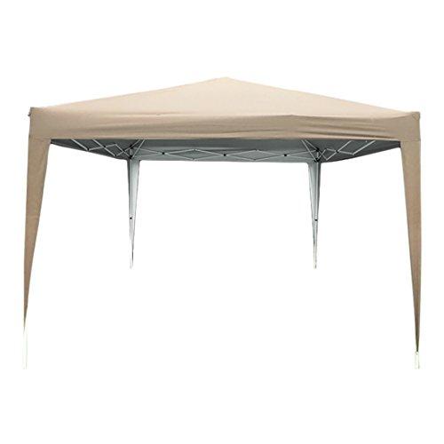 Quictent privacy 10×10 Mesh Curtain EZ Pop Up Party Tent Canopy Gazebo 100% Waterproof-7 Colors. (Biege No Sidewalls)