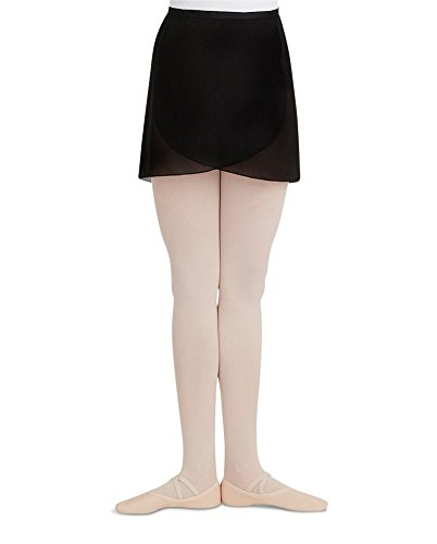 Capezio Adult Georgette Wrap Skirt Black Small (Capezio Womens Skirt)