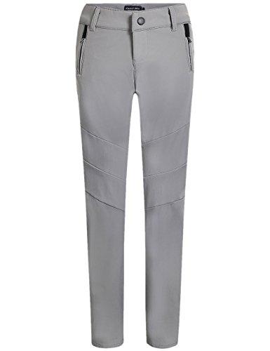 Camii Mia Women's Mountain Sports Windproof Waterproof Fleece Hiking Pants (W29 x L32, Grey)