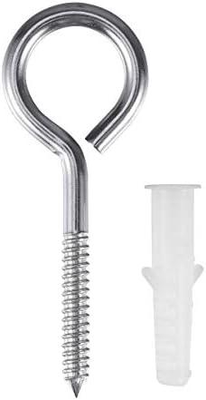 LIOOBO 10個304ステンレス鋼セルフタッピングねじアイボルトリングフック付き拡張パイプ(閉ループ)