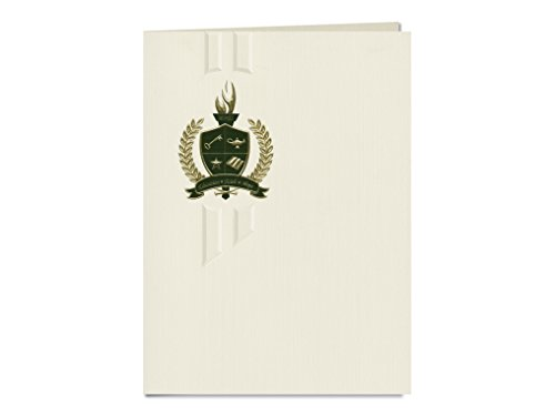 Signature Announcements Creighton University - Law Graduation Announcements, Elegant style, Elite Pack 20 with Graduation 1 Seal: Gold & Green Metallic Foil by Signature Announcements
