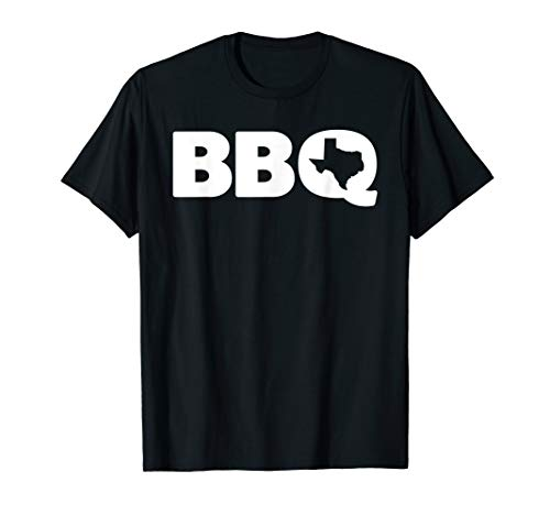 Texas BBQ Graphic Barbecue and Map Shirt