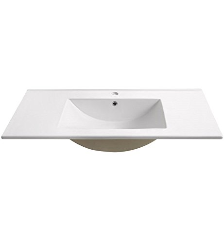 """Torino 36"""" White Integrated Sink with Countertop"""