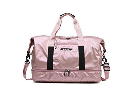 Women Tote Shoulder Handbags Large Waterproof Nylon Travel Gym Bag Weekender -