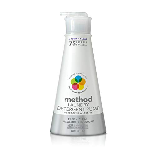 Method Laundry Detergent Pump, Free + Clear, 30 Ounces, 75 Loads