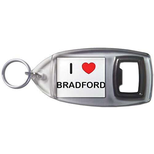 I Love Bradford - Plastic Bottle Opener Key Ring