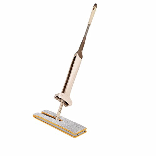 Contemporay Home Deco Self-Wringing Double Sided Flat Mop Telescopic Comfortable Handle Mop Floor Cleaning Tool ()
