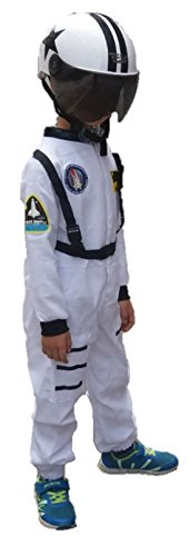 [ShonanCos Children Theme Party Costume Astronaut's Space Suit Cosplay Costumes (M, White)] (Han Solo Costume Girl)