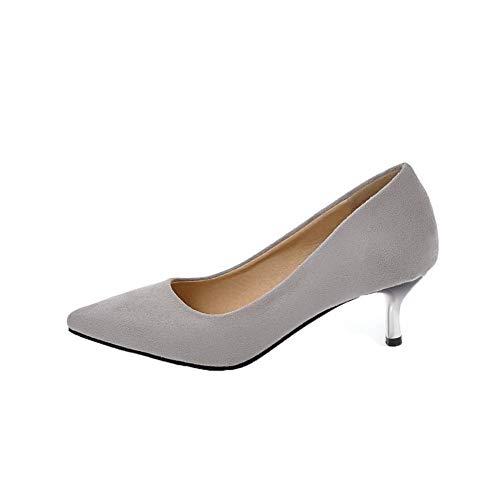 Ballet Tacco Plastica GMMDB006412 Donna Tirare Grigio AgooLar Puro Medio Flats OqHawHYZ