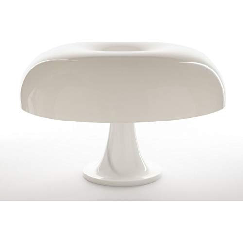 Artemide Nesso Table Lamp for Furniture, Dining, Home Decor, Bedroom, Living Room, Office Lighting - White