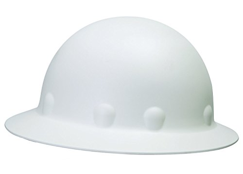 Vented Carbon Fiber - Fibre-Metal by Honeywell E1W01A000 Super Eight Full Brim Pin Lock Style Hard Hat, White