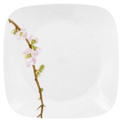 Corelle Square 8-3/4-Inch Luncheon Plate, Cherry Blossom