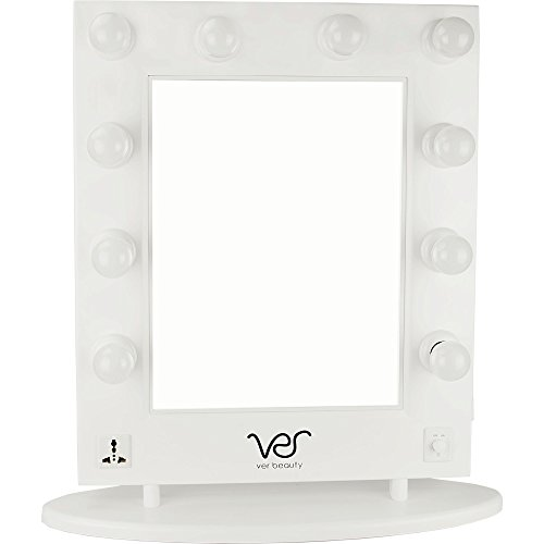 Ver Beauty VMR4512 Hollywood Vanity Mirror, White Matte For Sale