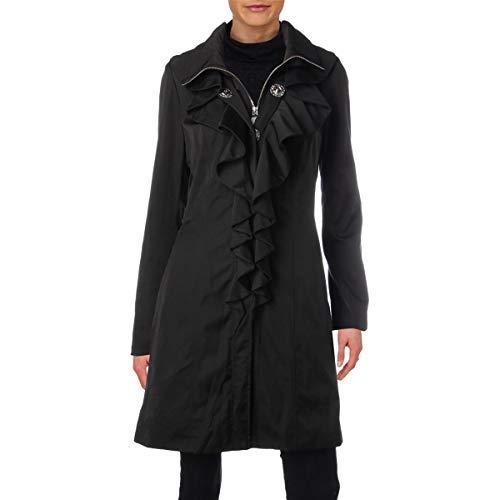 Elie Tahari Womens Spring Ruffled Jacket Black M - Tahari Silk Suit
