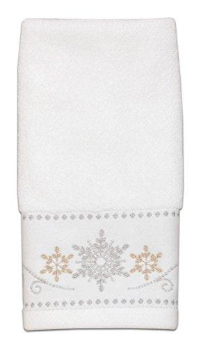 (Lenox Snowflake Jacquard Fingertip Towel)
