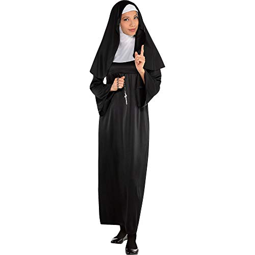 AMSCAN Holy Sister Nun Halloween Costume for Women, Standard, with Included Accessories]()