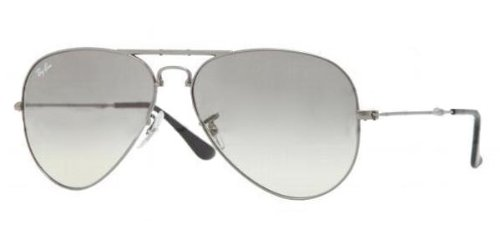 Ray Ban Rb3479 Folding Aviator Gunmetal Frame/Grey Gradient Lens Metal Sunglasses, 55mm