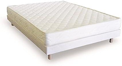 Conjunto colchón confort y somier tapizado 140 x 190 cm