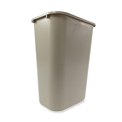 Trash Can in Gray Rubbermaid FG295700GRAY Rectangular 10 1//4 gal