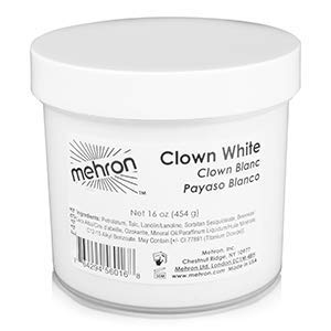 Mehron Makeup Clown White Professional Makeup (16 oz)