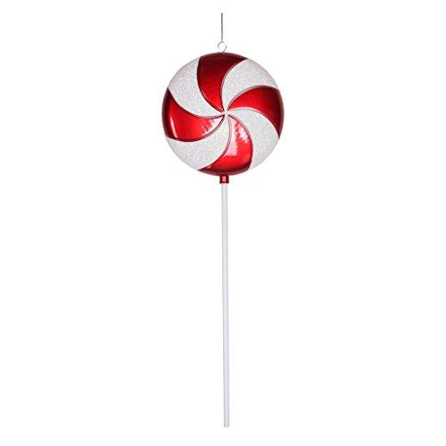 Vickerman Plastic Candy Lollipop with Iridescent Glitter, 24